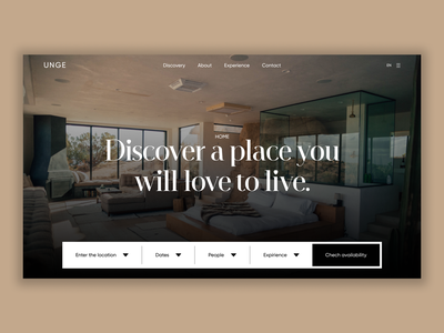 Home Finder - Hero section typography branding ui web ux minimal figma design