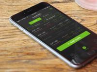 Trading app list of assets UI/UX design