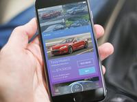 Car marketplace in mobile banking app UI/UX design