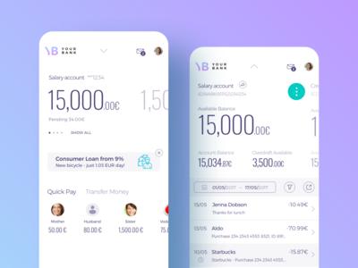 Banking App UX/UI Design money payment application user interface digital finance bank banking financial fintech