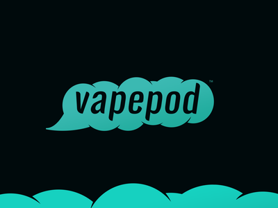 VapePod Branding vape cloud vape cloud logo vaping smoke text cloud text smoke logo cloud logo vape logo design logo graphic design branding and identity branding logo design