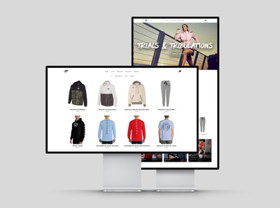 Trials & Tribulations Clothing website design design ecommerce website clothing brand