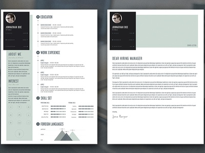 Free Download -  Personal Resume and Cover Letter psd download free resume cv personal cover letter