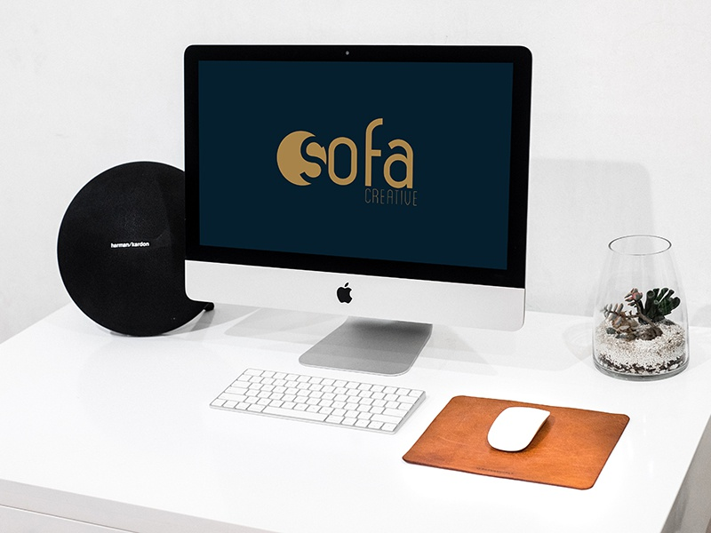 iMac On White Desk - Free Mockup free imac download free imac download free download free mockup free