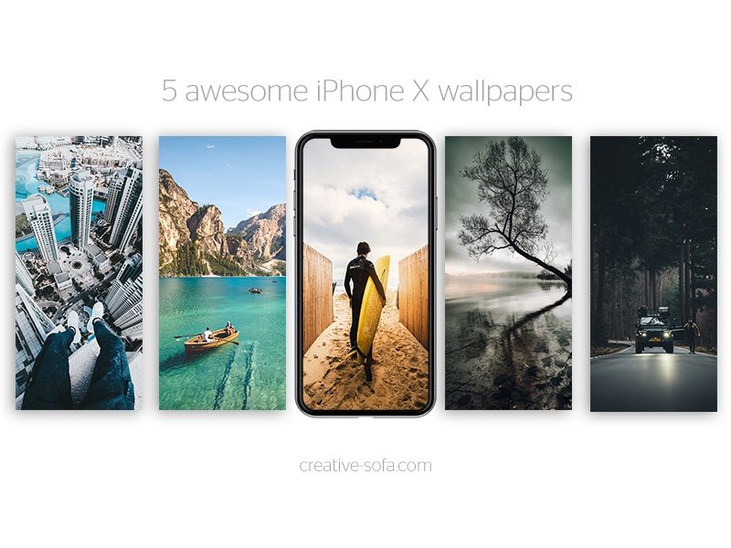 5 Awesome Iphone X Summer Wallpapers By Claudiu Fagadar Dribbble
