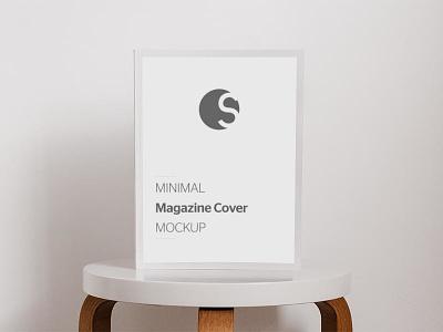 FREE Minimal Magazine Cover Mockup psd mockup book cover mockup cover mokcup magazine mockup free psd free