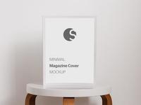 FREE Minimal Magazine Cover Mockup