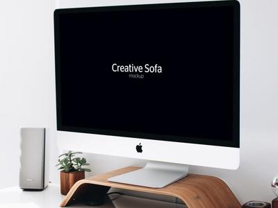 iMac Free Perspective Mockup PSD free mockup download freebie free imac mockup mockup imac