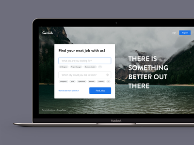 Job Portal Landing Screen