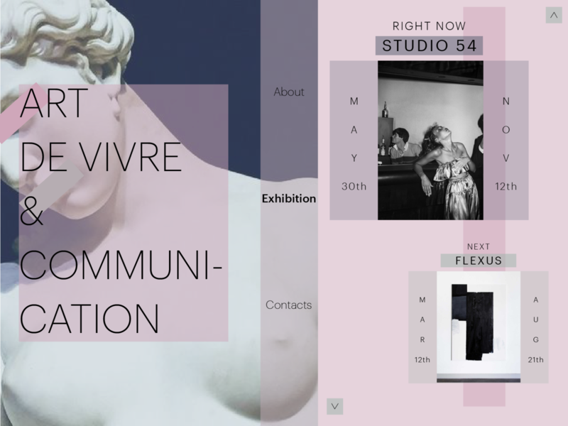 Landing Page - Museum exhibition art landing page museum vector uidesign ui illustrator graphicdesign graphic design