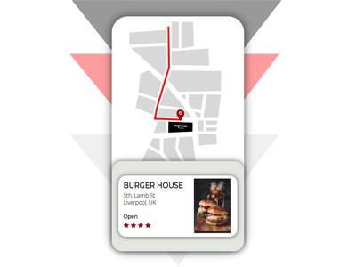 Location Tracker/ Map gray grey red black application app pin map location tracker location vector uidesign ui illustrator graphicdesign graphic design