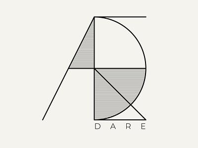 Dare line linear dare typography black white illustrator vector graphicdesign graphic design