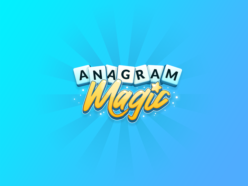 Anagram Magic Logo scrabble word game brain games alexa voice game amazon echo logo magic anagram