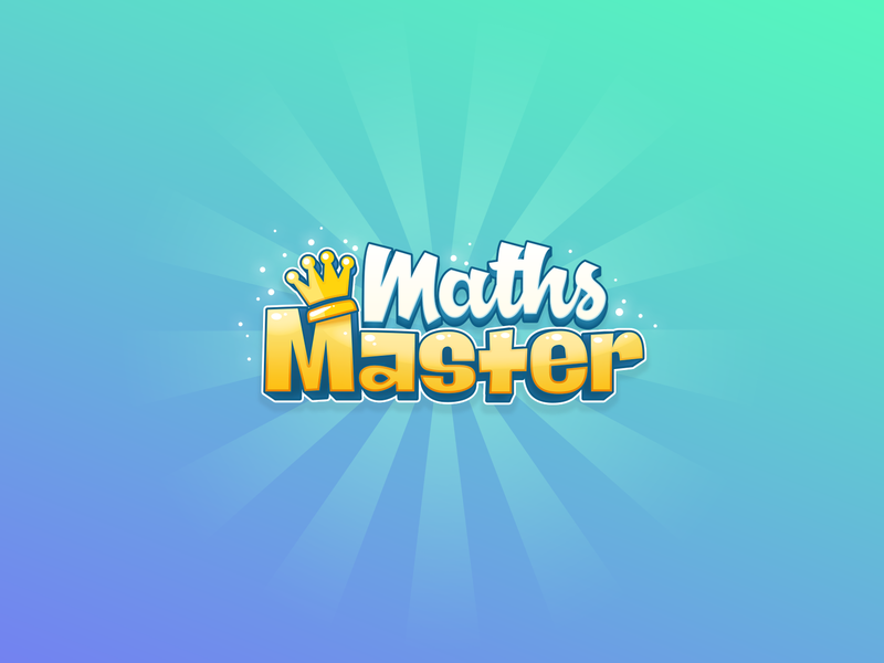 Maths Master - Game Logo voice game logo brain games amazon echo alexa master maths