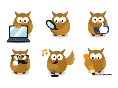 Vector Owl Mascot Freebie nice sweet adorable free vector bird freebie cute animal character mascot owl