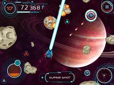 Asteroids Crusher - Game Kit vector galaxy space spaceship sci-fi asteroids assets arcade game 2d