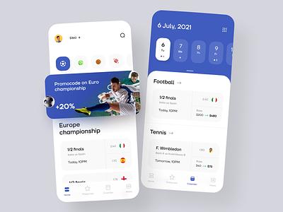 Sports Betting App clean gambling gaming sports sport betting app bets bet betting mobile design app ui ux ronas it
