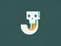 J for jawbone
