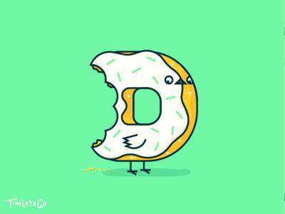 D for Donut dove