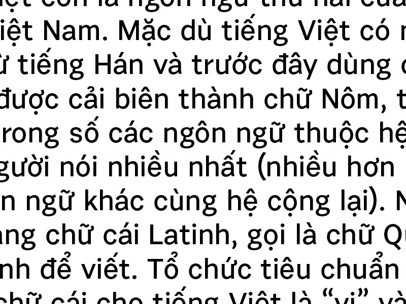 Urban Grotesk is learning Vietnamese  by Suitcase Type
