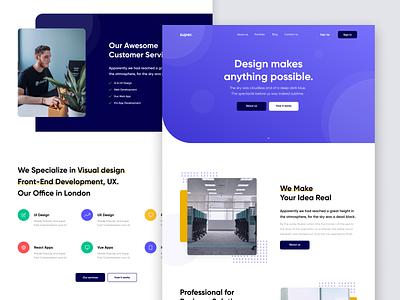 Super - UI Kit and Welcome! agency landing page icon website web ui kit design ui kits ui kit startup agency minimalism minimal template landing page debut ux ui design