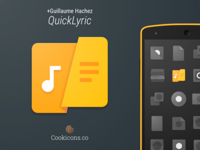 QuickLyric Product Icon app icon product icon material design lyrics android iconography icon material