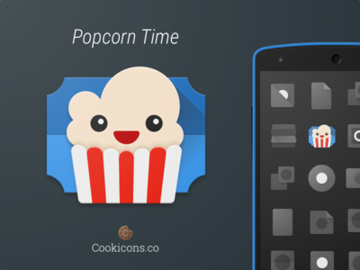 Popcorn Time Product Icon Update (Official) app icon product icon material design time popcorn android iconography icon material