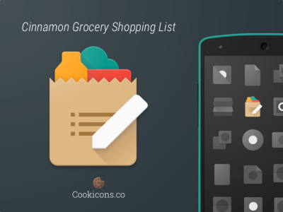 Cinnamon Grocery Shopping List Product Icon app icon shopping list product icon material design list shopping android iconography icon material