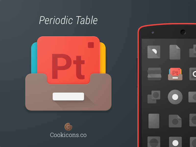 periodic table product icon by cookicons dribbble - Periodic Table Fabric