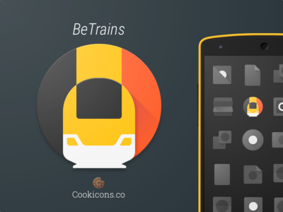 BeTrains Product Icon app icon product icon material design transit trains belgium android iconography icon material