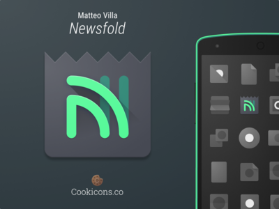 Newsfold Product Icon app icon product icon material design android iconography icon feedly rss news material