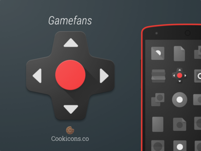 Gamefans Product Icon app icon product icon material design android iconography icon gaming videogames news game material