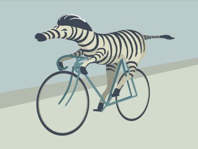 Zebra on a bike
