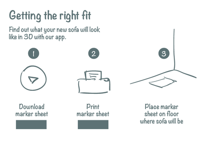 Getting The Right Fit illustration instructions app