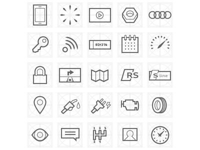 Audicons car icons vector