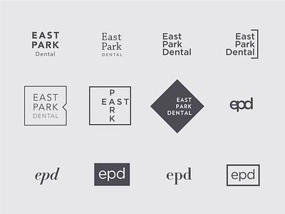 Typographic marks logo dentist