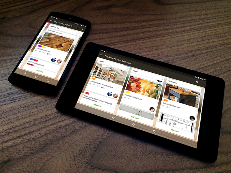 Trello for Android — Officially More Material! trello android material google app