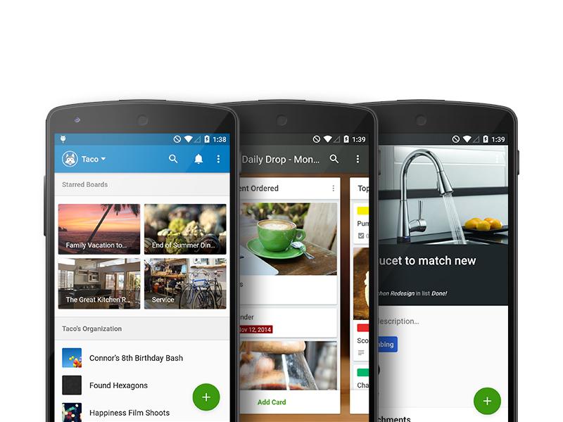 Trello's Material Design In-Depth Blog Post trello android material google app blog