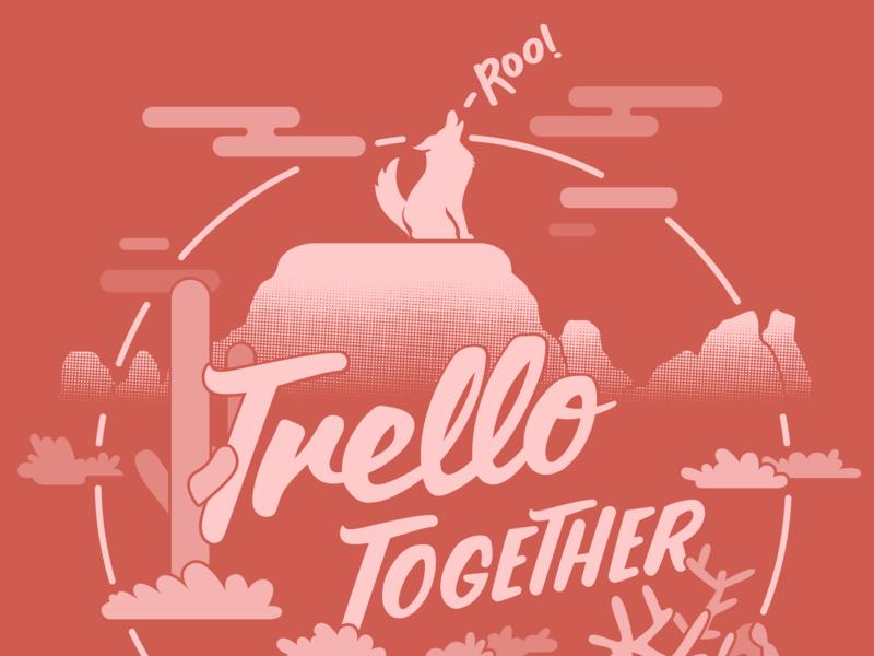 Trello Together vector trello typography illustration illustrator
