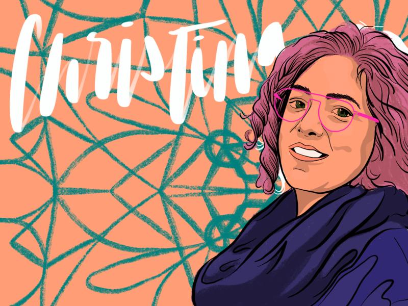 Christina procreate portrait illustration