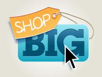 Shop Big - Button & Tag