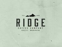 Ridge Coffee Company branding design branding agency brand design mountains food vector vector illustration vector art visual design graphic  design graphicdesign packaging design packagedesign coffee cup