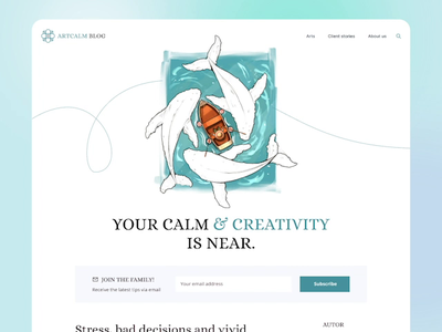ArtCalm blog art blog design illustration interface web animation ui