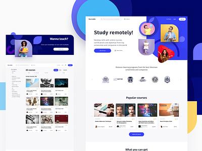 StuddyMo course study design interface ux app web ui