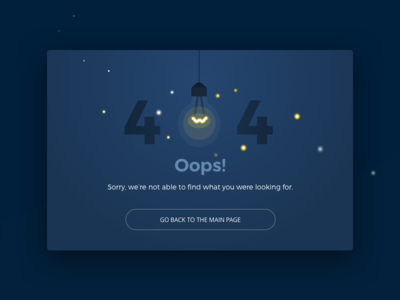 Oops! Electro-404 site blue minimal website interface web ux ui flat illustration error 404