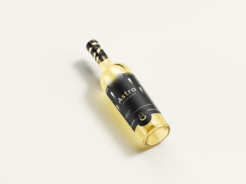 Astra: wine label label wine package design packaging space logo branding