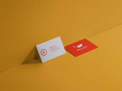 Business Card: spicy food restaurant food business card flat logo branding design vector