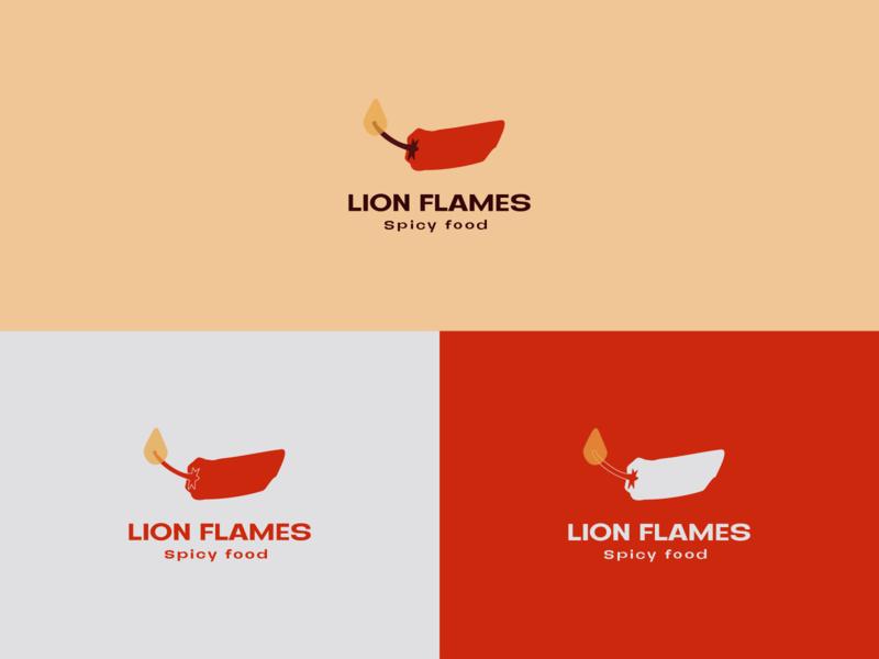 Spicy food logo food illustration fire food brand logo food flat illustration branding design vector
