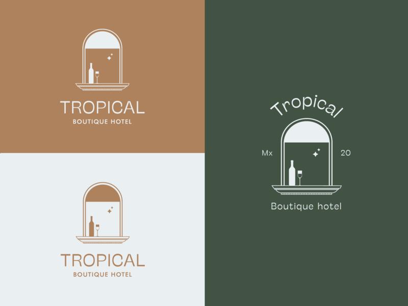 Boutique hotel logo window hotel boutique hotel logo branding vector