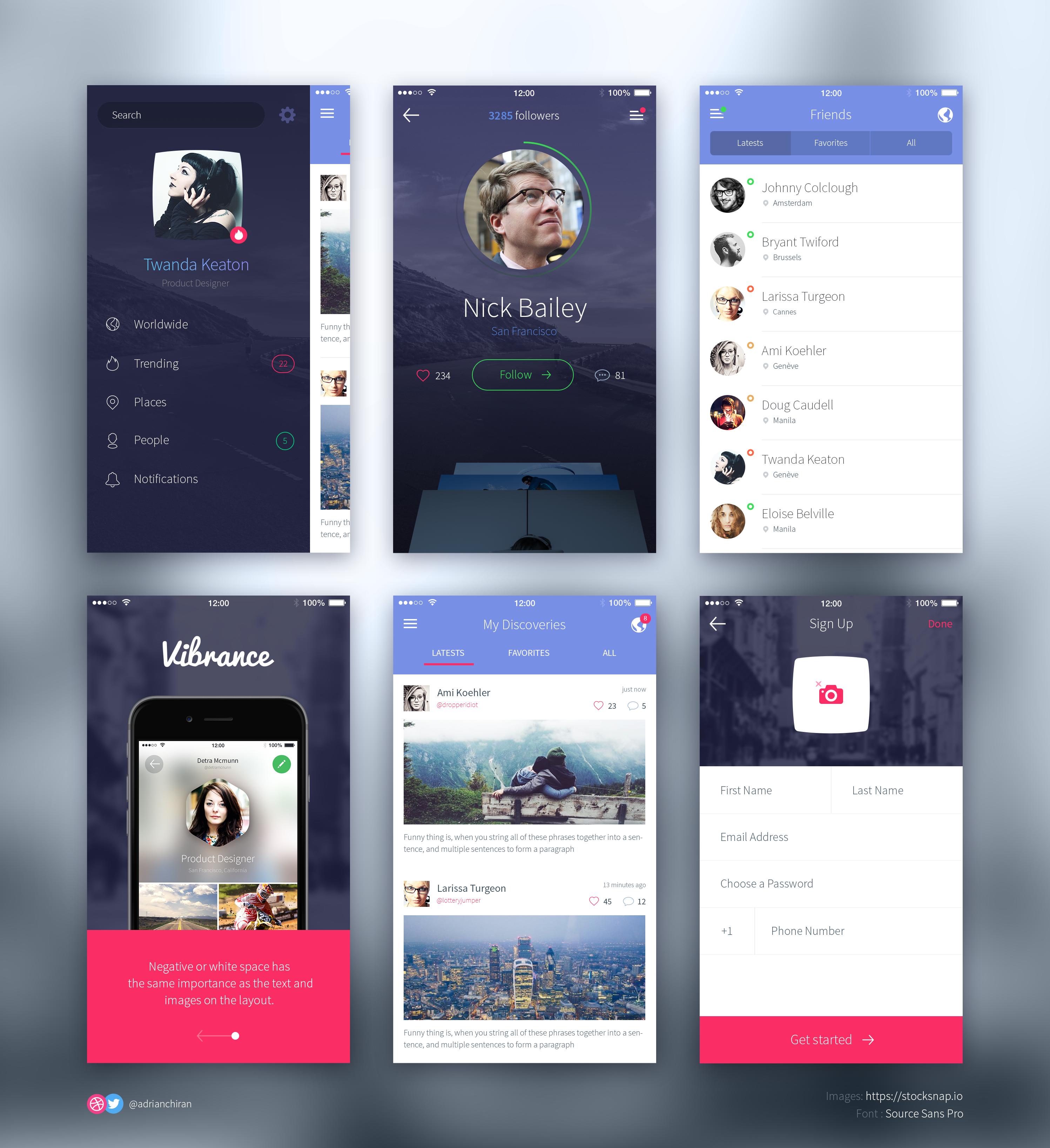 dating app design psd
